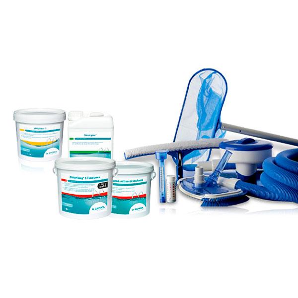 Kit Complet D Entretien Basic Chlore Sel Piscine Direct Usine